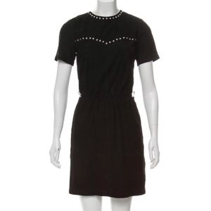 Michael Kors Black Suede Studded Dress size XS